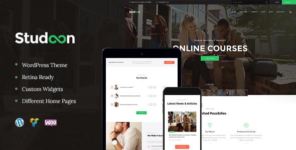 Studeon   An Education Center & Training Courses WordPress Theme
