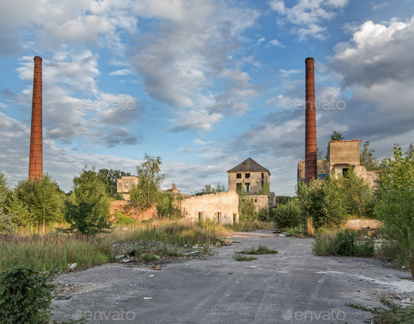 Abandoned and dilapidated factory - Stock Photo - Images