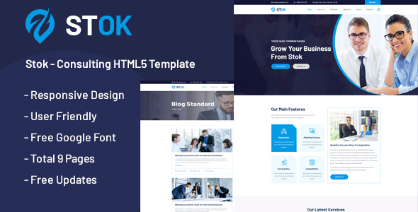Stok - Multipurpose Consulting HTML5 Template by ThemeStok