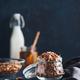 Homemade granola in glass jar on dark table - PhotoDune Item for Sale
