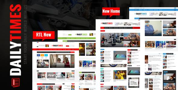 DailyTimes - News and Magazine Joomla Template
