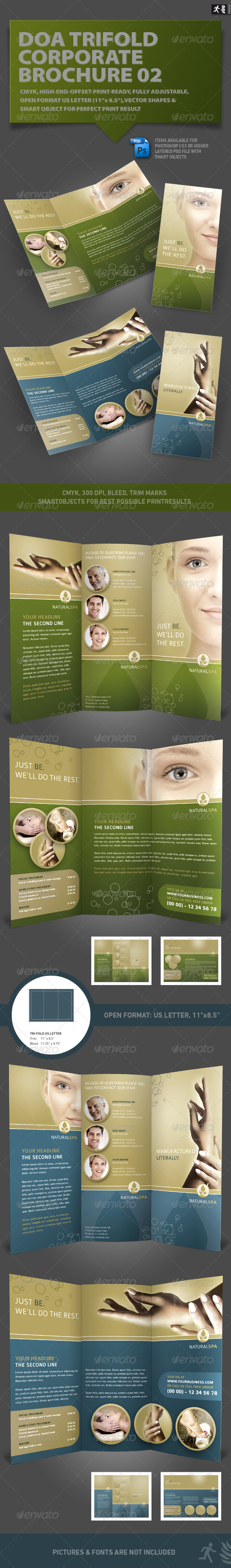 DOA Trifold Corporate Brochure 02 - Corporate Flyers