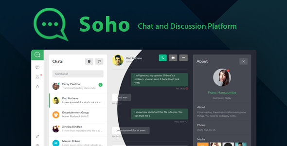 Soho - Chat and Discussion Platform HTML Template by laborasyon