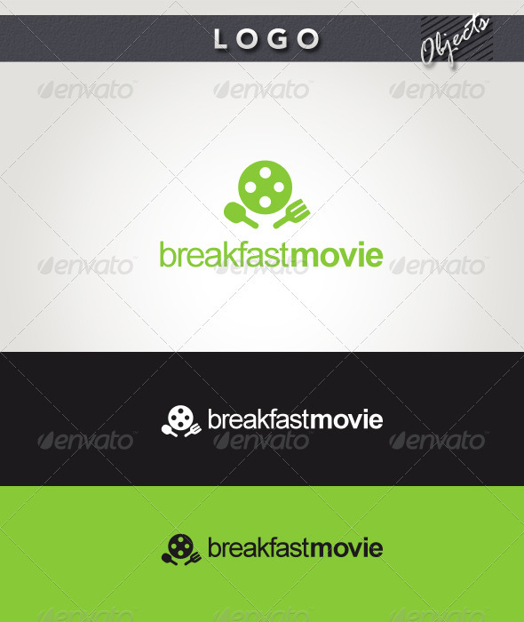 Breakfast Movie Logo - Objects Logo Templates