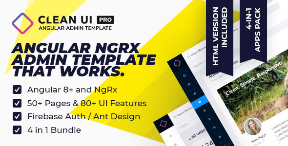 Clean UI Angular Pro — Multi Concept Admin Template by sellpixels_com