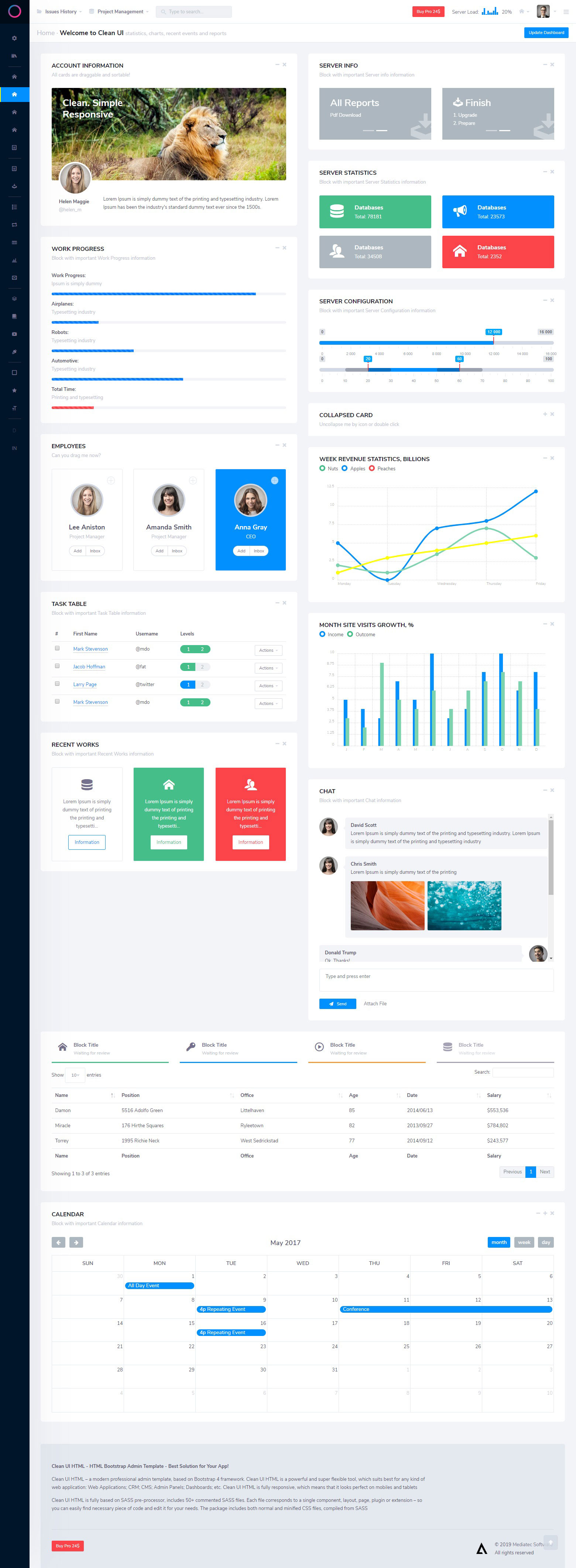 Clean UI React Pro — Multi Concept Admin Template