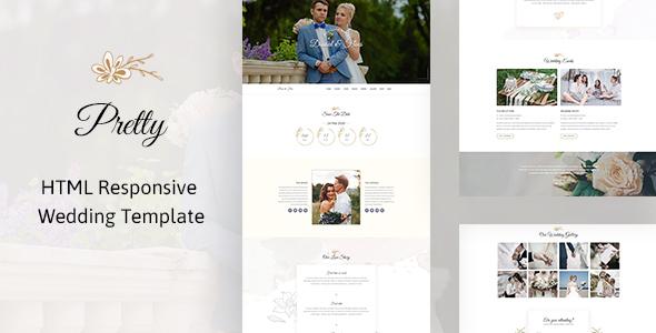 Pretty - HTML Responsive Wedding Template