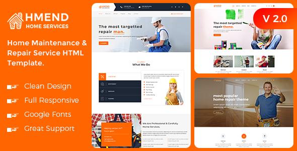 Excellent Hmend - Home Maintenance & Repair Service HTML Template