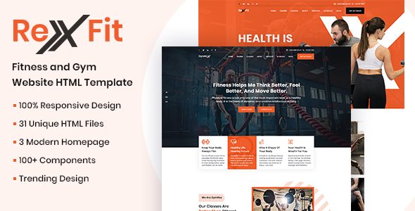 RexFit Gym and Fitness HTML5 Template by voidcoders