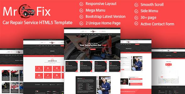 Mr Fix - Car Repair Service HTML5 Template by unlockdesign