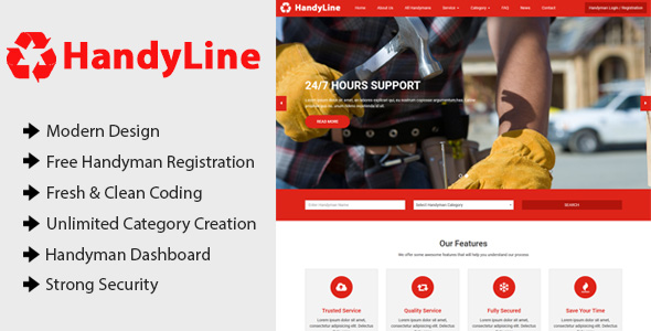 Handyline - Handyman Listing Directory CMS