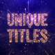 Unique Particles Titles - VideoHive Item for Sale