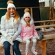 Cute and beautiful family in a winter city - PhotoDune Item for Sale