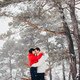 Loving couple walking in a winter park - PhotoDune Item for Sale