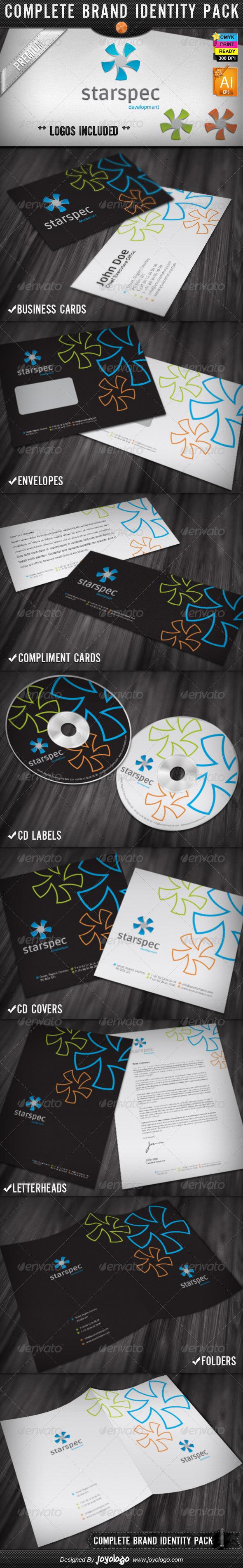 Star Spectrum Web Development Identity Designs - Stationery Print Templates