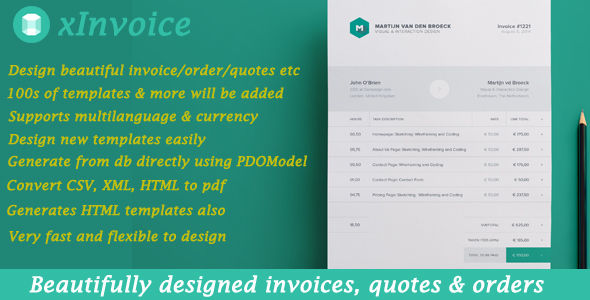 xInvoice - Generate beautifully designed invoices dynamically