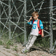 Young schoolchild with a cell phone on his morning way to school - PhotoDune Item for Sale