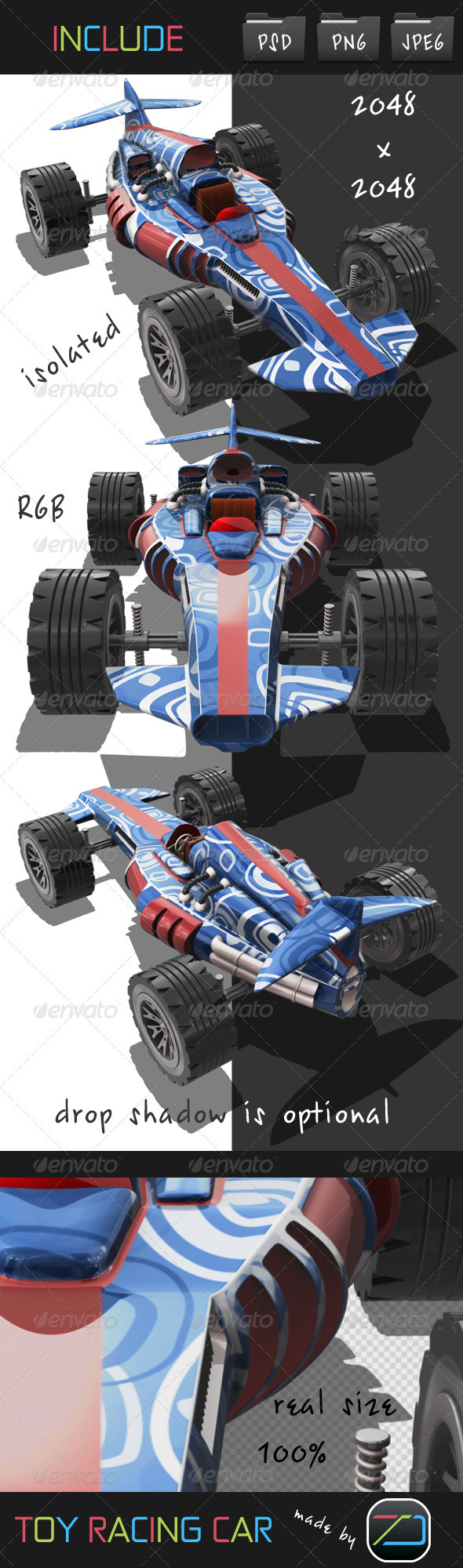 Toy Racing Car - Objects 3D Renders