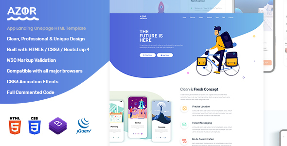 Azor - App Landing HTML Template by andIT_themes