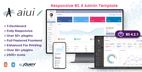AIUI - Admin Dashboard Template & Web apps
