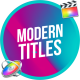 Modern Colorful Titles | FCPX or Apple Motion - VideoHive Item for Sale