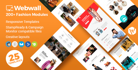 Webwall - Fashion Responsive Email Template + StampReady & CampaignMonitor compatible files by webwall