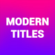Modern Titles - VideoHive Item for Sale