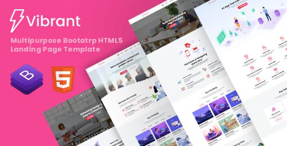 Vibrant - Multipurpose Landing Page Template