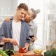 loving couple is preparing the proper meal - PhotoDune Item for Sale