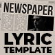 Newspaper Lyric - VideoHive Item for Sale