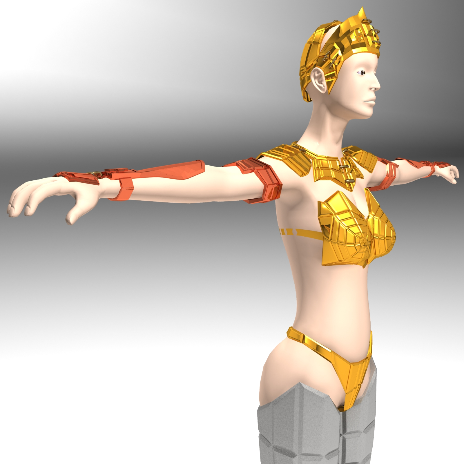 Ancient Roman Greek Female Warrior By Polygon3d 3docean