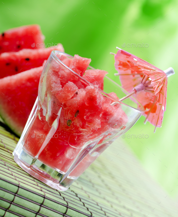 Watermelon juice - Stock Photo - Images