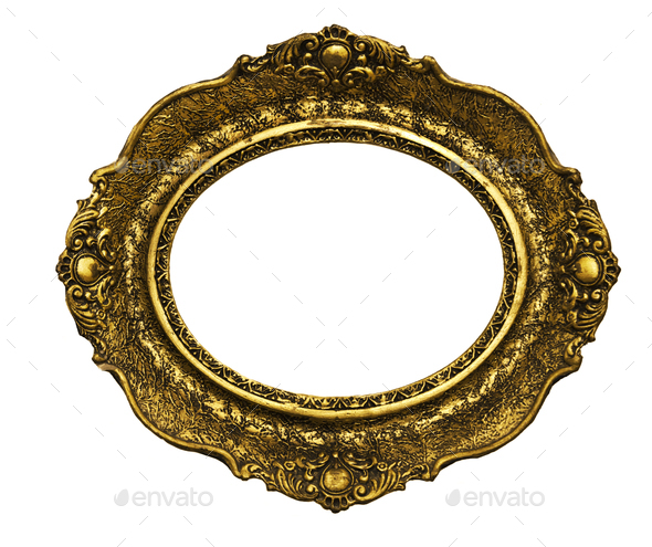 vintage golden frame - Stock Photo - Images