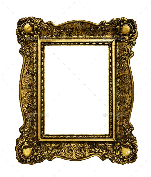 Vintage golden frames - Stock Photo - Images