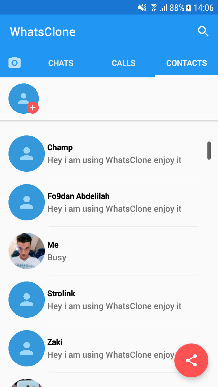 WhatsClone Messenger