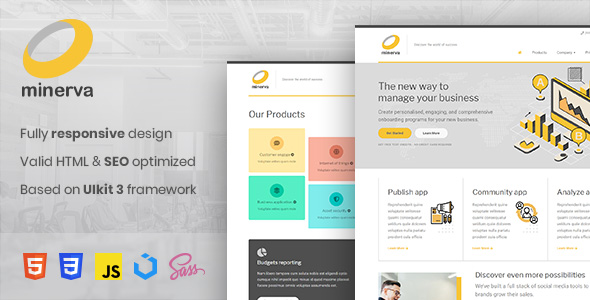 Free Download Minerva - Minimalist Business HTML Template Nulled Latest Version