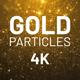 Gold Particles Background 4K - VideoHive Item for Sale