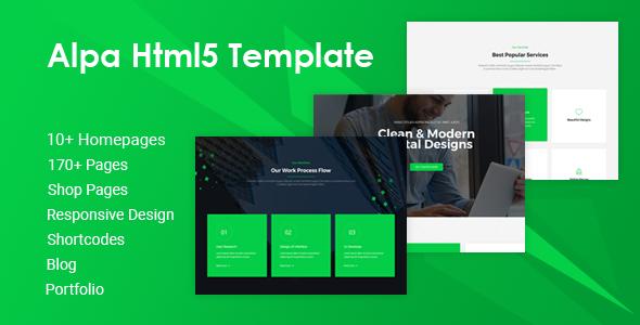 Alpa   Responsive Multipurpose HTML5 Website Template