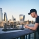 Young man using smart phone - PhotoDune Item for Sale
