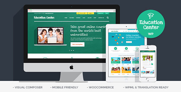 Education Center | LMS Online University & School Courses Studying WordPress Theme