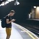 Waiting on underground station platform - PhotoDune Item for Sale
