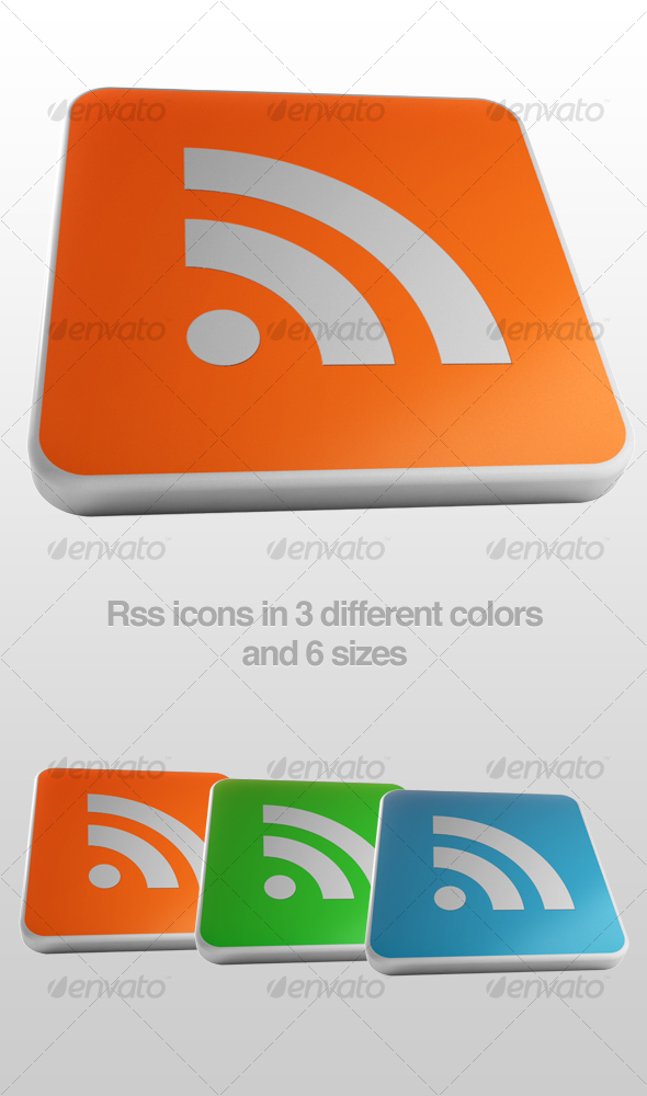 Glossy RSS icons - Web Icons