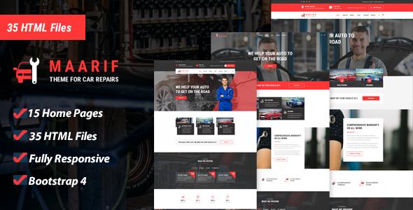Maarif - Car Service & Car Repair HTML Template by MegaSoftSolutions