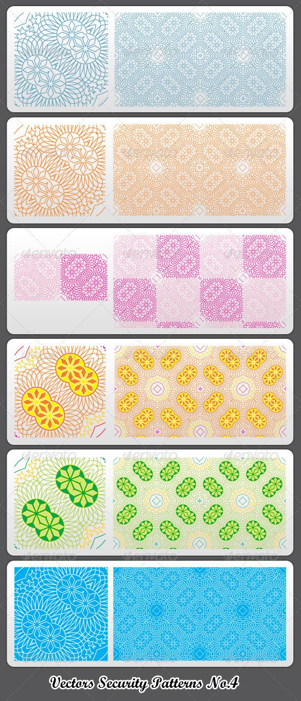 Vectors Security Patterns No.4 - Backgrounds Decorative