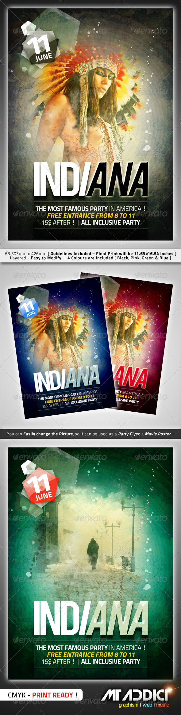 Indiana Flyer - Clubs & Parties Events