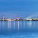 salt lake and potash fertilizer plant at night - PhotoDune Item for Sale