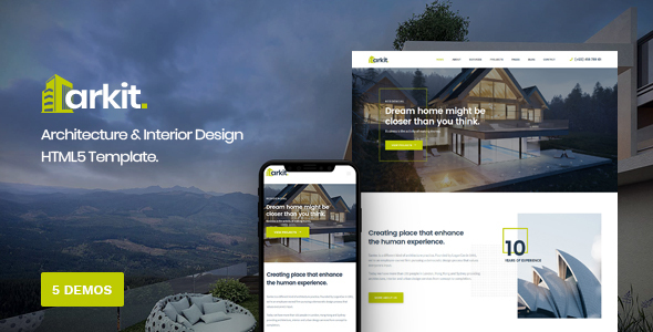 Arkit - Architecture & Interior HTML Template by DynamicLayers