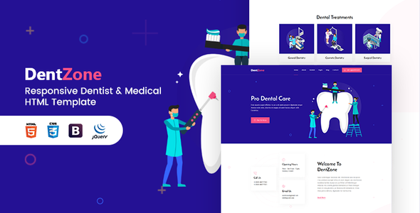 Dentzone | Dentist & Medical HTML5 Template