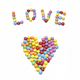 Word LOVE and abstract heart from bright colorful candy - PhotoDune Item for Sale