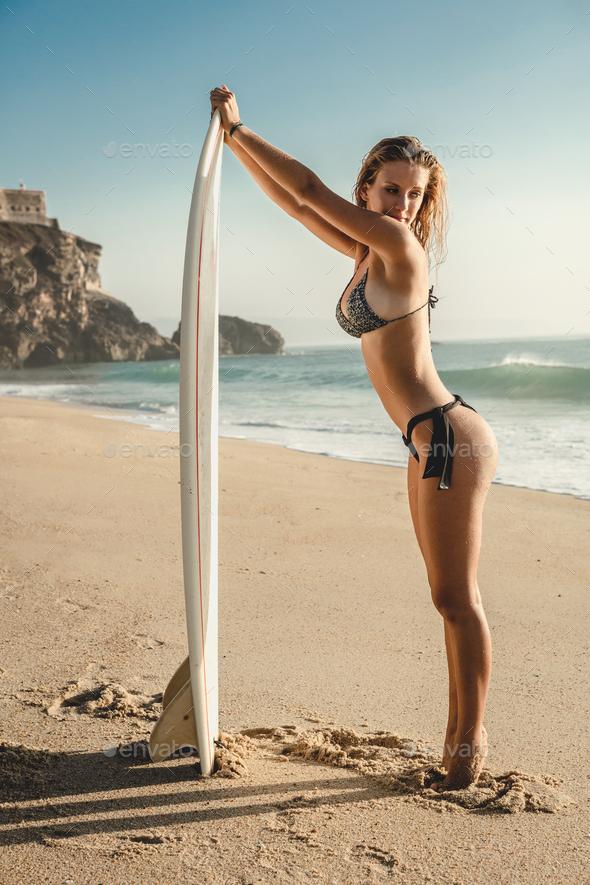 Sexy surfer girl Stock Photo by ikostudio | PhotoDune